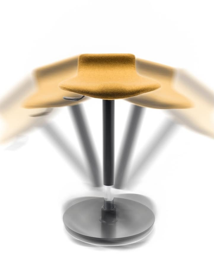Oblò, Taburete con base oscilante antideslizante, ajustable en altura