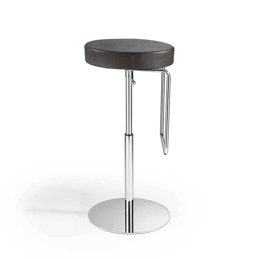 Taburete con asiento redondo, regulable en altura | IDFdesign