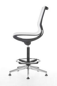 Key Line stool, Taburete giratorio para oficina