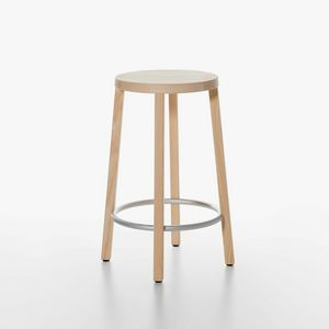 Blocco mod. 8500-00/60, Taburete de madera esencial, de alto diseño, para la cocina