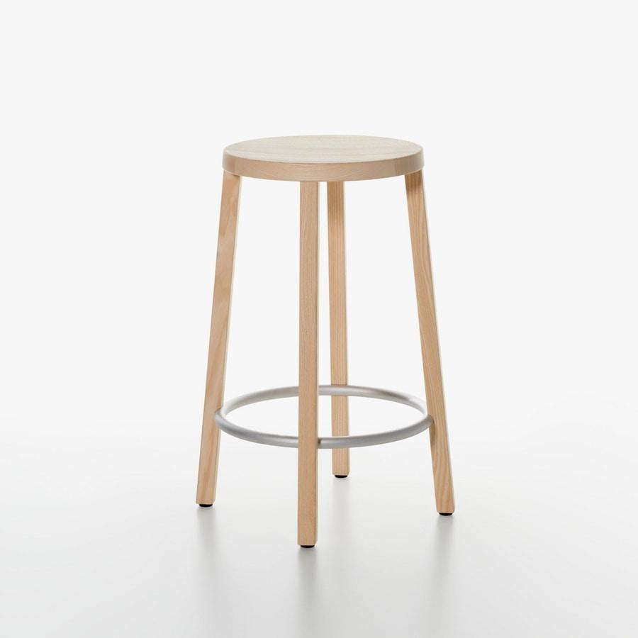 Taburete de madera esencial, de alto diseño, para la cocina ...