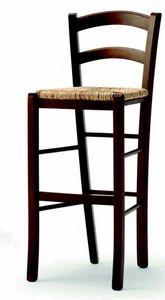 04 Brio/SG, Taburete rústico, con asiento de paja