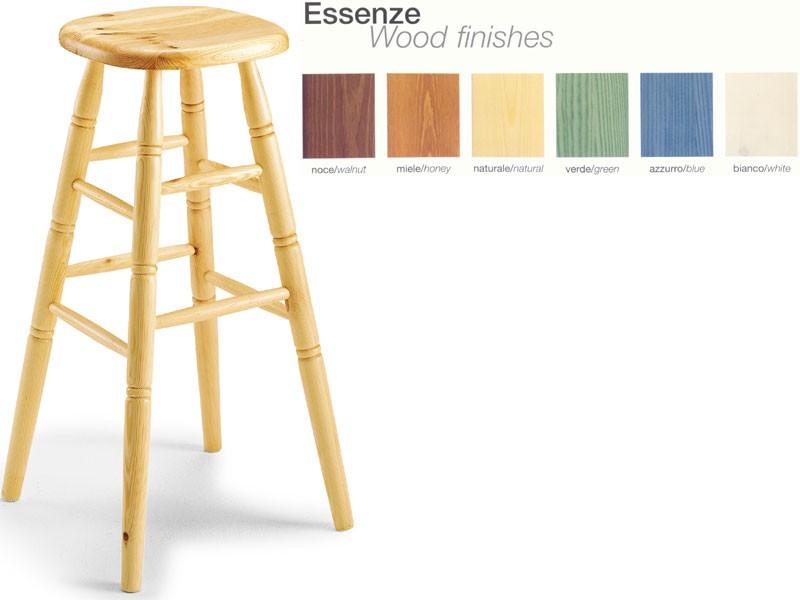H/301 bar stool, Taburete de madera de haya para el restaurante Farmer