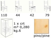 H/301 S, Taburete de madera maciza, con la parte posterior, para bar de vinos
