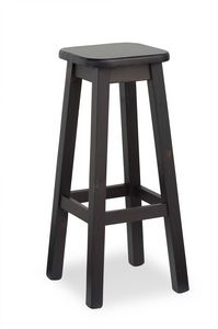 H/309 A Alto taburete Cuadrado, Alto taburete en un estilo rústico, para tabernas y bares