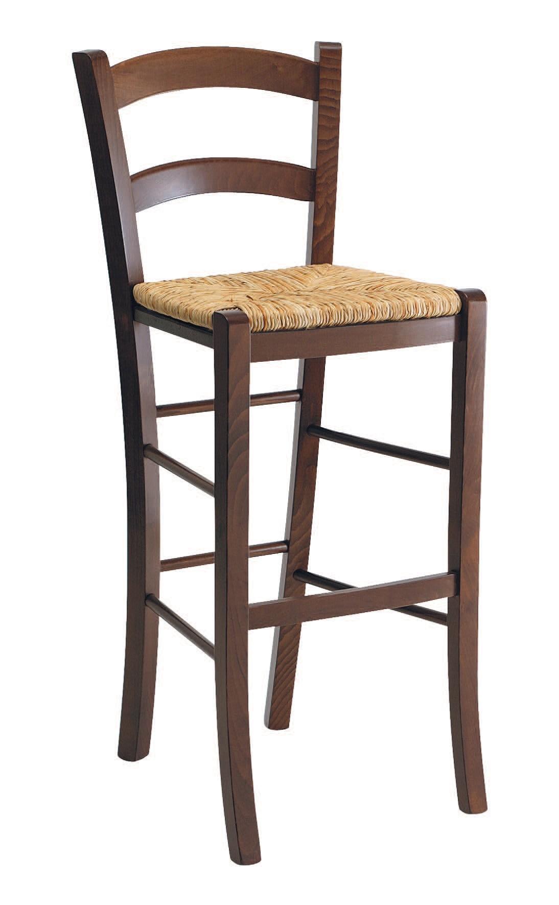 SG 119, Heces rústico en madera con asiento de paja, para bares