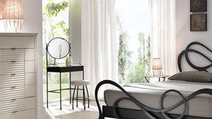 Aladino taburete, Taburete de hierro con asiento redondo acolchado extraíble