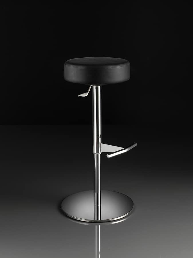 ART. 244/B CAP, Taburete con asiento redondo, elevación de gas, para los restaurantes