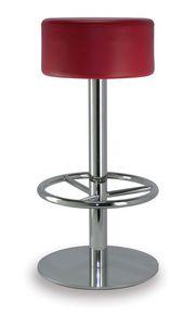 Cilindro 6063, Taburete con asiento redondo acolchado