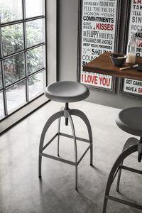 RIGA SG142, Taburete ajustable de metal con asiento redondo