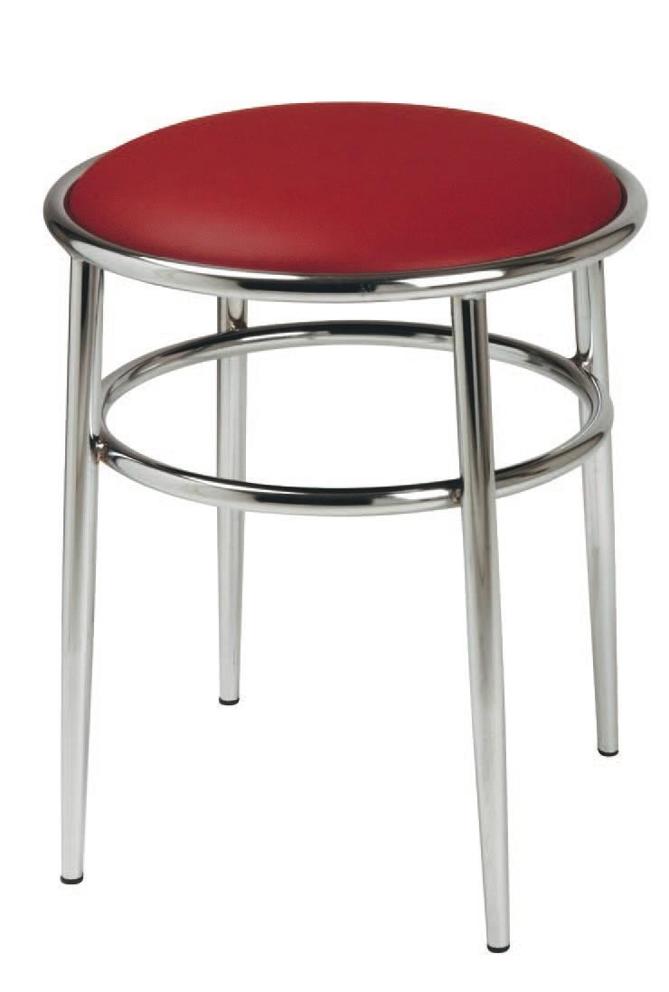 SG 028 / H, Taburete alto con asiento tapizado redondo, para los bares