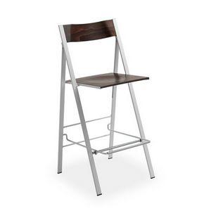 Pocket wood ST, Taburete plegable, ahorro de espacio, mobiliario para la cocina