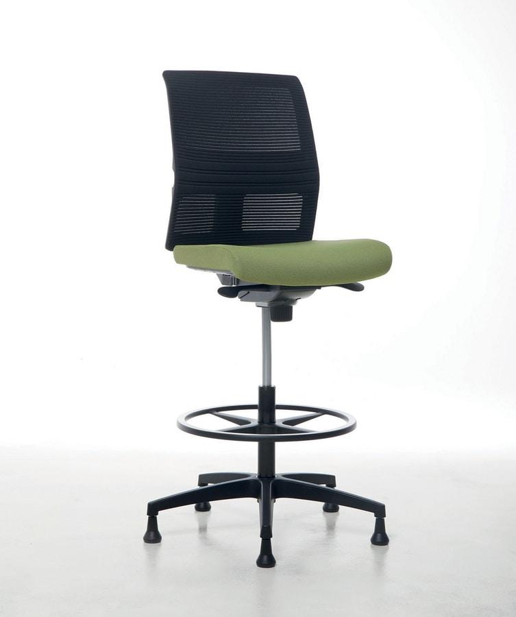 Omnia Plus Stool 02, Taburete de oficina ajustable