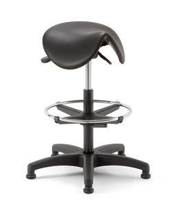 Horse 03, Taburete técnico con asiento en forma de silla de montar
