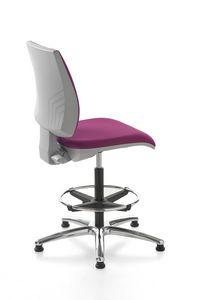 Kubix stool, Taburete de recepción, giratorio y ajustable