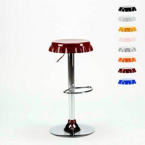 Taburete en forma de Bottle Cap Bar y cocina DALLAS Design - SGA800DAL, Taburete en forma de gorra con reposapiés