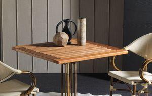 Art. 1100-TE Teak, Mesa de madera maciza de teca