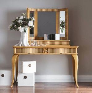 Art. CA727 + Art. CA728, Tocador con espejo, para el dormitorio de estilo clásico