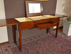 Beauty mesa, Vestir mesa de madera maciza, con compartimiento de almacenamiento