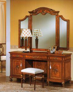 DUCALE DUCVA / Vanity, Dresser hecha de ceniza de madera, decorado a mano