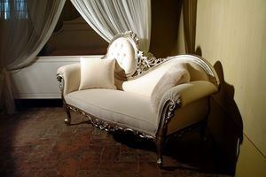 Monet Silver, Dormeuse de lujo de madera tallados a mano, de estilo barroco