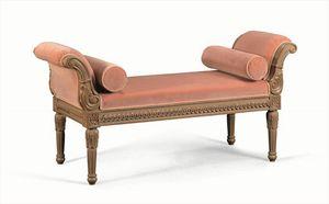 Art. 774, Chaise longue clásica en madera maciza tallada