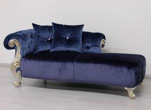 Oceano blu inchiostro, Lluxury chaise Longue, con relleno acolchado