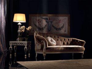 Paolina, Lujo clásico chaise longue, acolchado, para la recepción