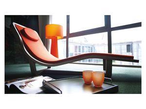 Boomerang, Chaise longue de madera maciza, cubierta desmontable