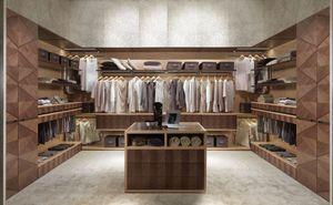 AR25 Desyo armario, Mueble modular con estantes, armarios y cajones