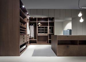 ATLANTE vestidor comp.03, Moderna sala de vestuario, la optimizaci�n del espacio