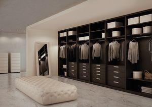 ATLANTE vestidor comp.07, Armario en roble gris, medidas personalizables