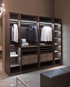 ATLANTE vestidor comp.09, Vestidor con perchas, alto diseño