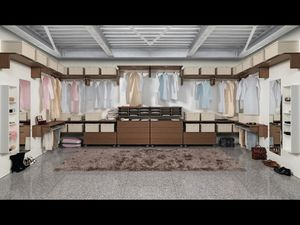 Cabina Keep Up 08, Walk-in closet modulares, con diversos accesorios