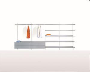 Elle System Wardrobe, Muebles modulares para armarios walk-in, con elementos personalizables