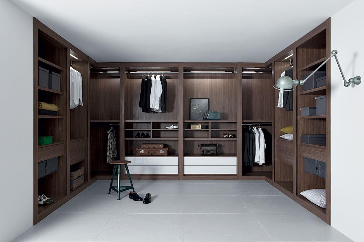 Sipario closet, Sistema de gabinete modular, acabados precisos