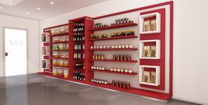 Revolution - estantería para panaderías, Pared equipada para panadería y tiendas de alimentos