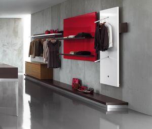 Revolution - unidad de pared para tienda de ropaRevolution - unidad de pared para tienda de ropa 2, Estantería de pared para tiendas de ropa