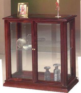 2055 MUEBLE, Pequeño armario en madera y vidrio, de estilo clásico