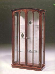 2230 ESCAPARATE, Vitrina de lujo clásico para sala de estar, con 2 puertas