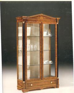 2480 ESCAPARATE, Vitrina de madera con puertas de vidrio 2, de estilo clásico