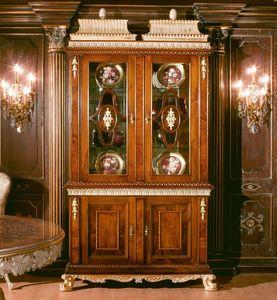Art. 1057, Un escaparate en madera de nogal con puertas de vidrio 2, 700-800 estilo