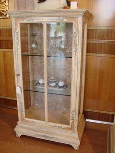 Art. 510, Vitrina 1 puerta, ventanas de cobre, para sala de estar