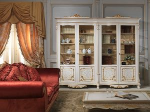Art. 9007 vetrina showcase, Escaparate de lujo elegante, hecha en madera maciza
