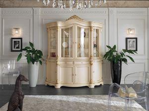 Brianza vitrina 4 puertas lacadas, Vitrina clásica, en madera lacada