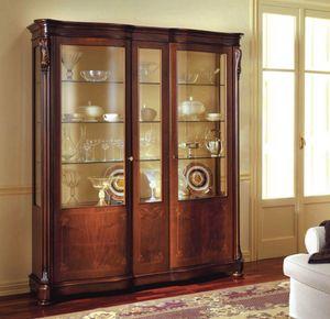 Canova escaparate, Mueble clásico pantalla con puertas laterales con cristal curvado