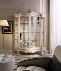 Chippendale vitrina 2 puertas lacadas, Vitrina lacada de estilo clásico