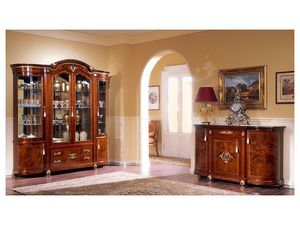 DUCALE DUCSO4PB / Display cabinet with 4 doors B, Vitrina de estilo clásico, hecho de madera de fresno