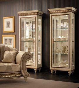 Fantasia vitrina 1 puerta, Escaparate clásico, con fondo de espejo
