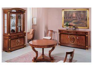 IMPERO / Display cabinet with 2 doors B, Vitrina de madera de fresno de oliva con 2 puertas de cristal
